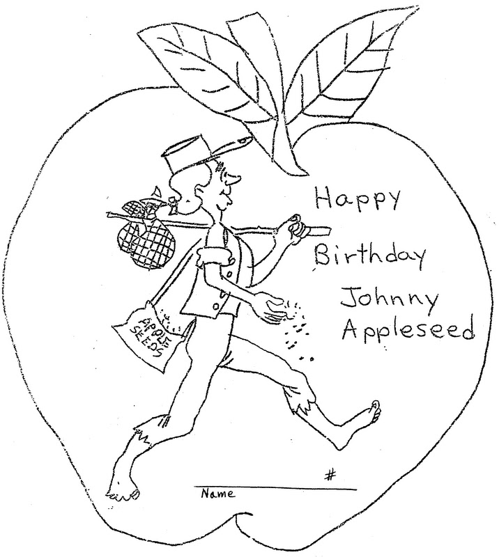 Happy Birthday Johnny Appleseed Printable