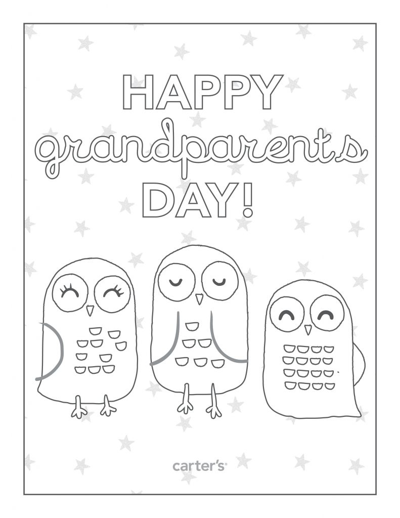Eloquent image inside grandparents day printable coloring pages