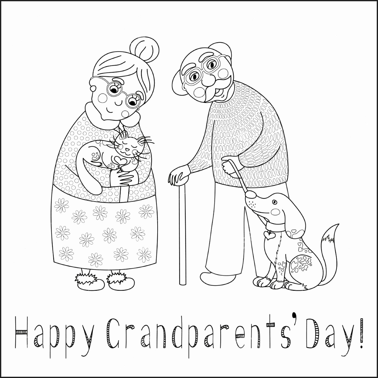 - Grandparents Day Coloring Pages - Best Coloring Pages For Kids