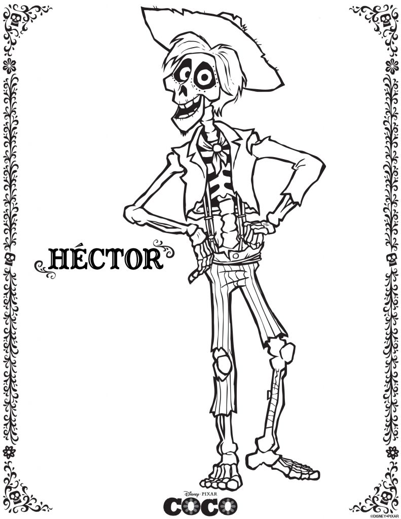 Hector - Coco Coloring Pages