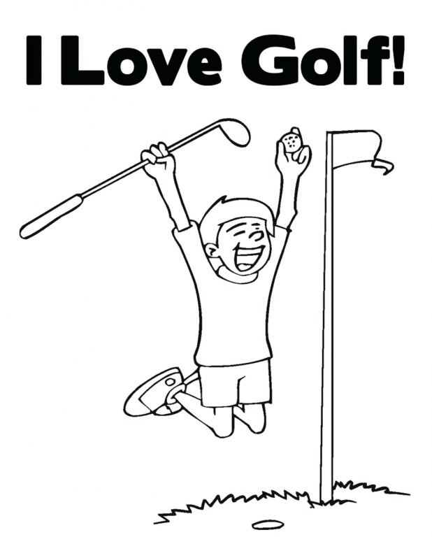 I love Golf Coloring Pages