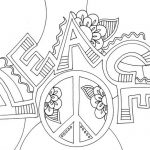 Illustration Peace Coloring Page
