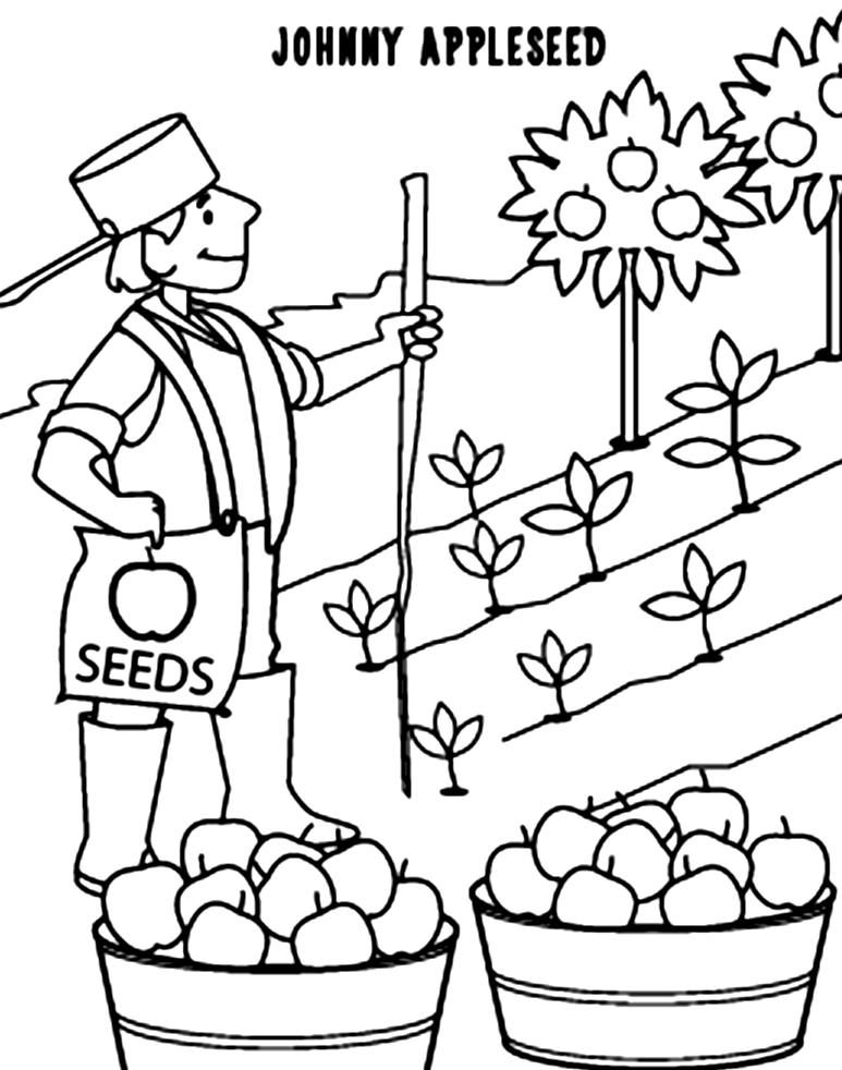 Johnny Appleseed Coloring Pages Best For Kidsrhbestcoloringpagesforkids: Free Johnny Appleseed Coloring Pages At Baymontmadison.com