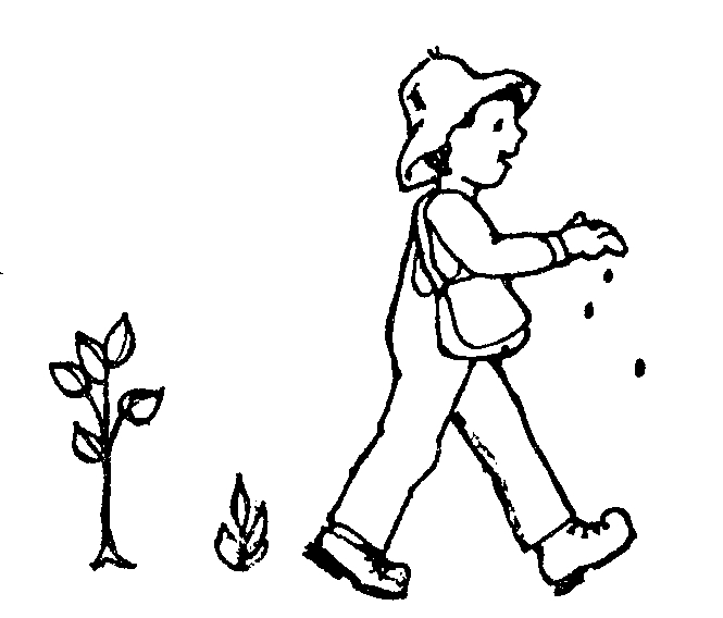 Johnny Appleseed Seeds Coloring Page