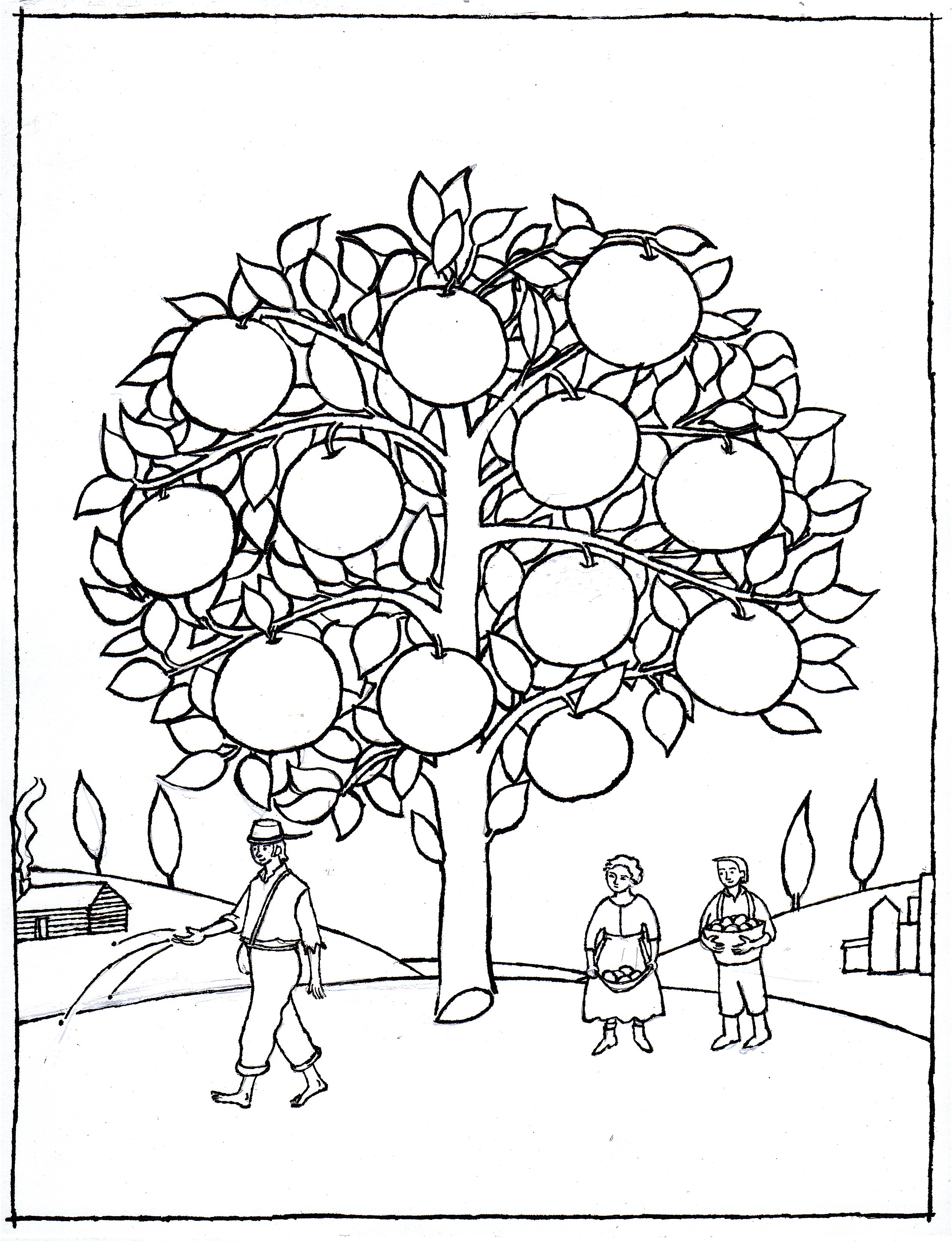 johnny appleseed coloring pages best coloring pages for kids. Black Bedroom Furniture Sets. Home Design Ideas