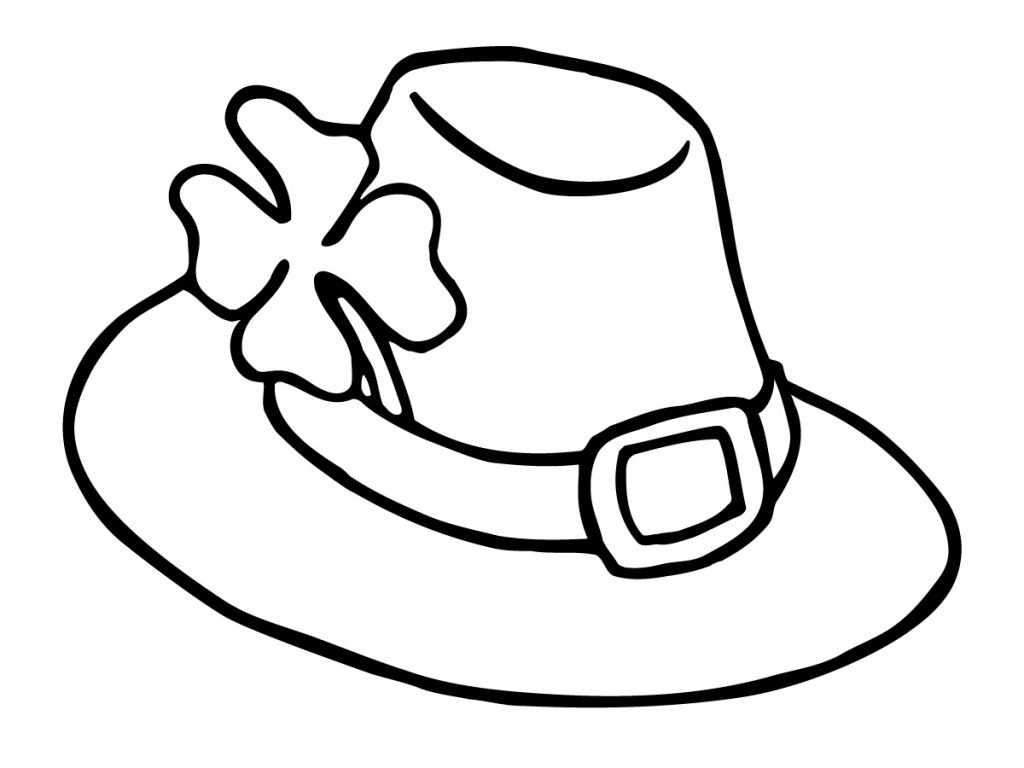 Leprauchan Hat Coloring Page