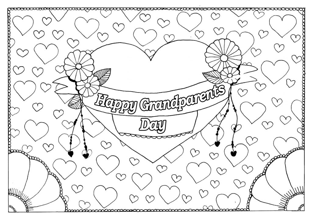 Love My Grandparents Day Coloring Pages