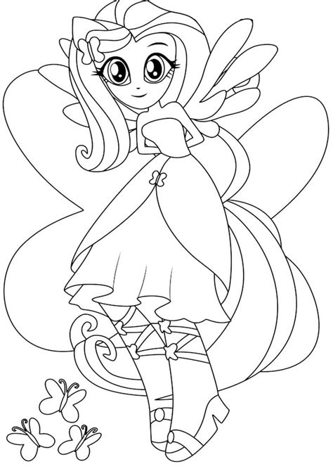 MLP Equestria Girl Coloring Pages