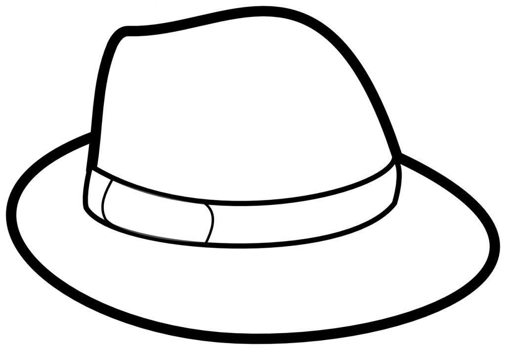 Mans Hat Coloring Page