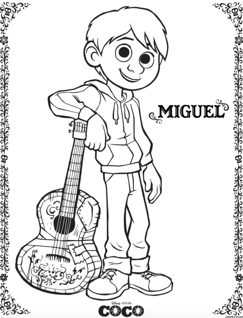Miguel - Coco Coloring Pages