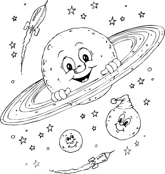 space coloring pages free - photo#38