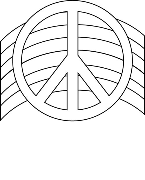 Peace Rainbow Coloring Pages