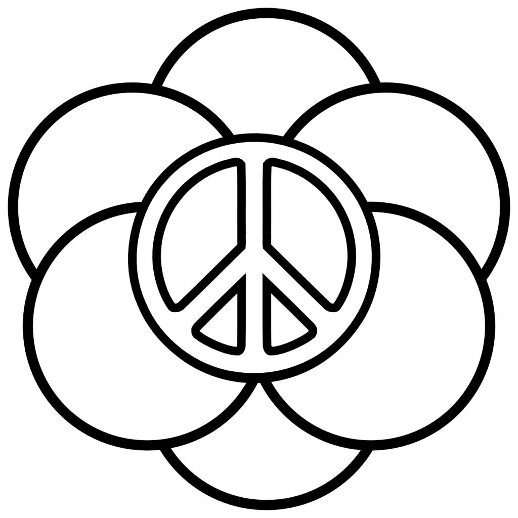 Peace Rings Coloring Page