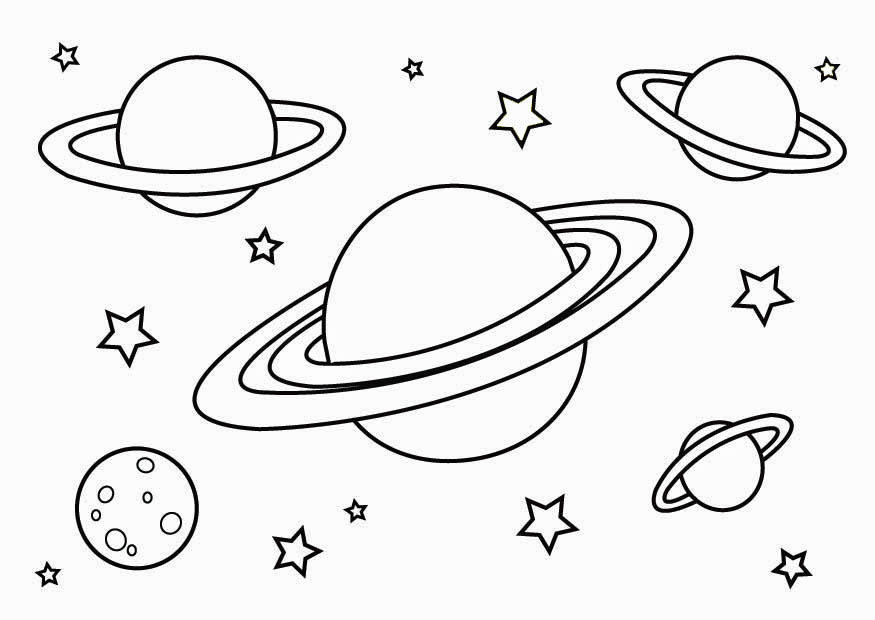 Planets Coloring Page Free