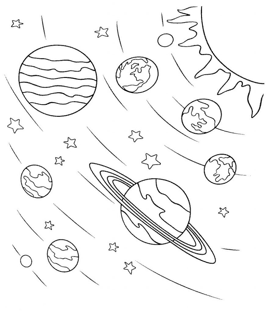 childrens space coloring pages - photo#10