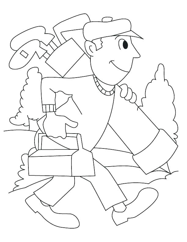 Playing Golf Coloring Page