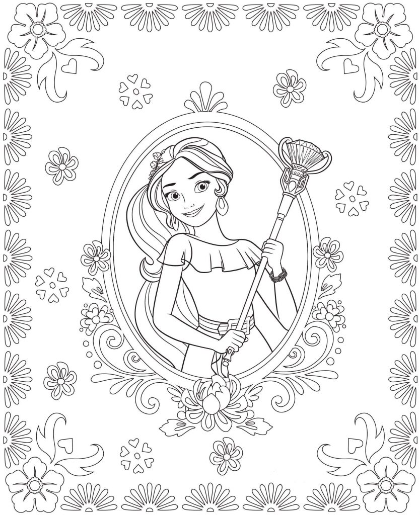This is a photo of Superb princess elena coloring page