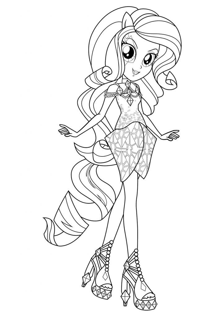 Print Equestria Girls Coloring Page