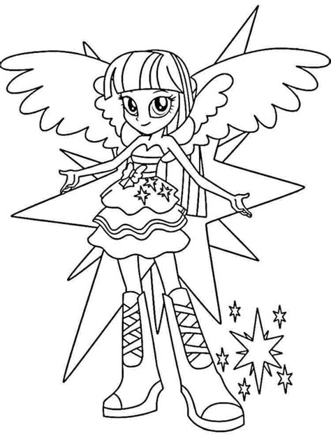 Printable MLP Equestria Girls Coloring Pages
