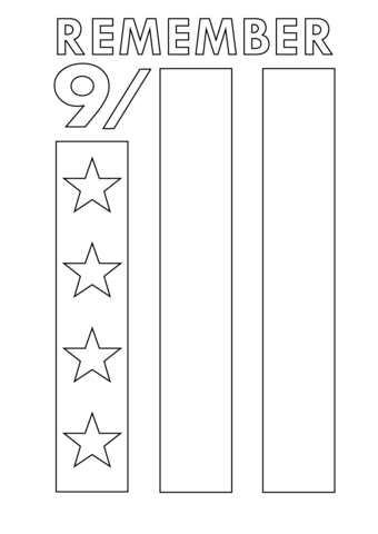 Remember 9-11 Coloring Page
