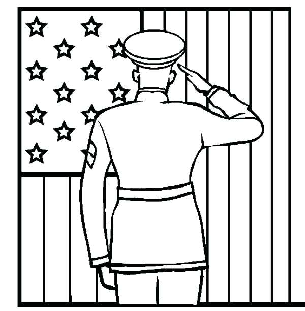 Salute on Patriot Day Coloring for 9-11