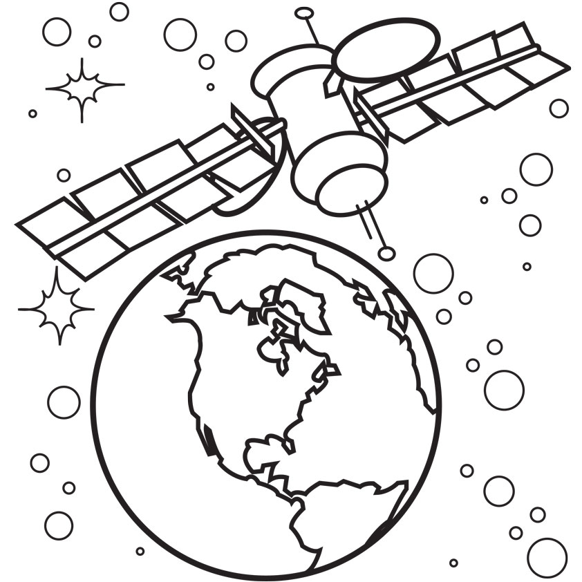 childrens space coloring pages - photo#16