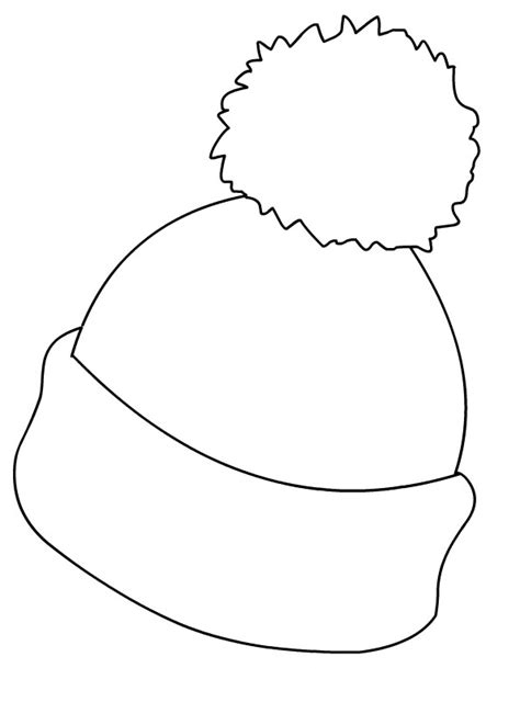 Ski Hat Coloring Page