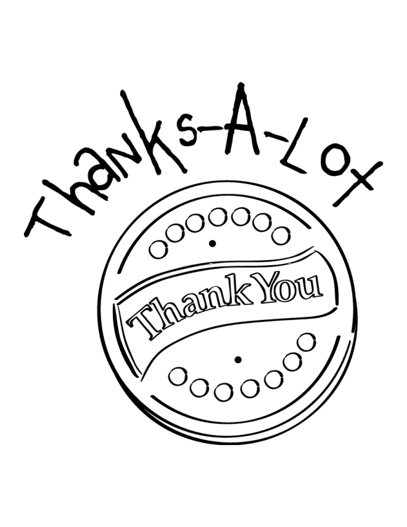 Thank you cookie coloring page