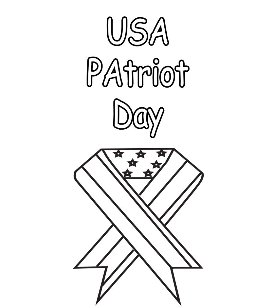 USA Patriot Day 9-11 Coloring