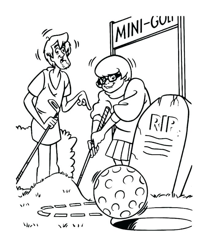 Velma Golfing Coloring Pages