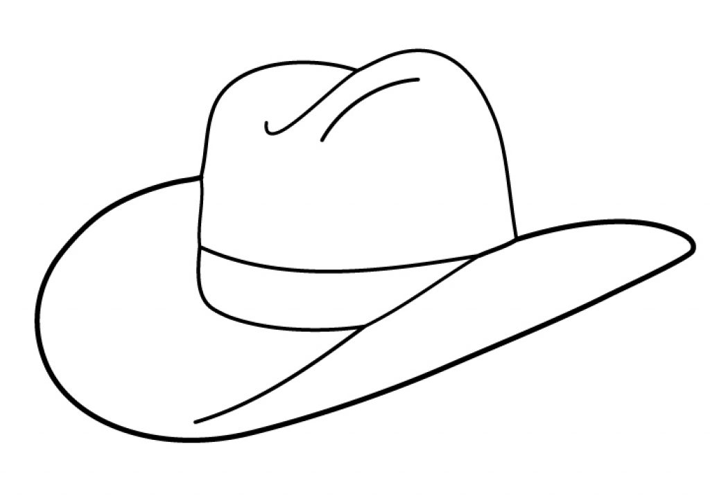 Adaptable image within cowboy hat printable