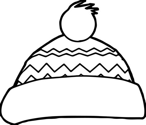 Witches Hat Coloring Page