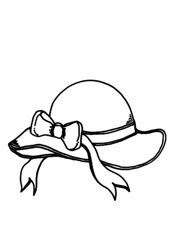 Womans Hat Coloring Page
