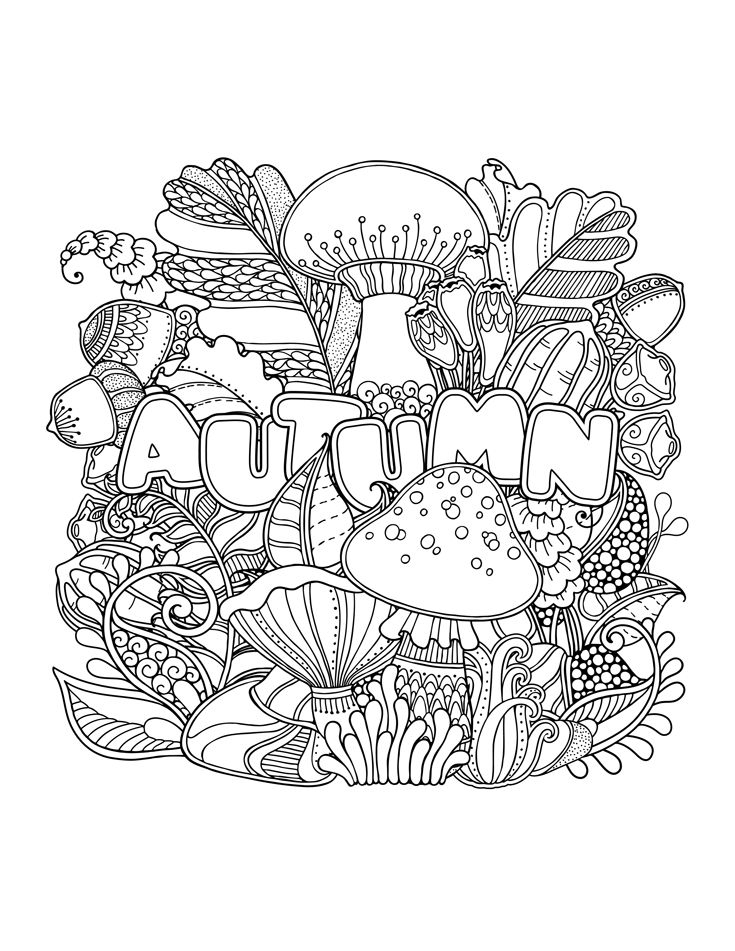 free autumn coloring pages for adults | Fall Coloring Pages for Adults - Best Coloring Pages For Kids