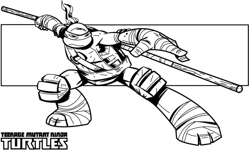 Bow Staff - Teenage Mutant Ninja Turtles Coloring Pages