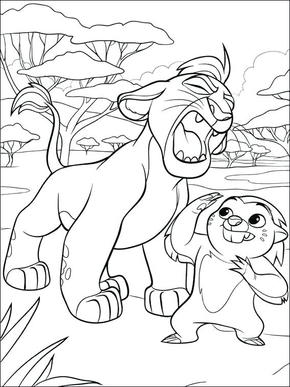 Color Kion Lion Guard Coloring Pages