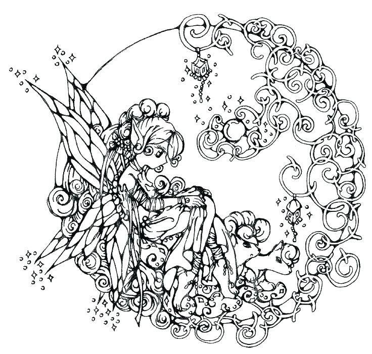 Complex Coloring Page for Teens