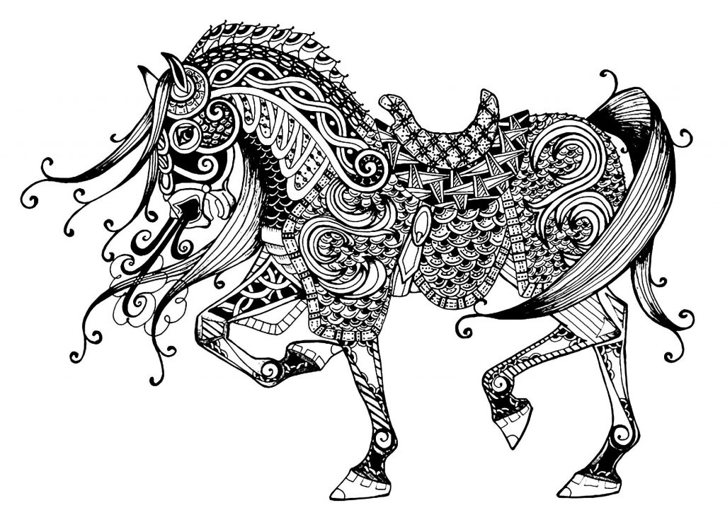Complex Coloring Pages for Adults Printable