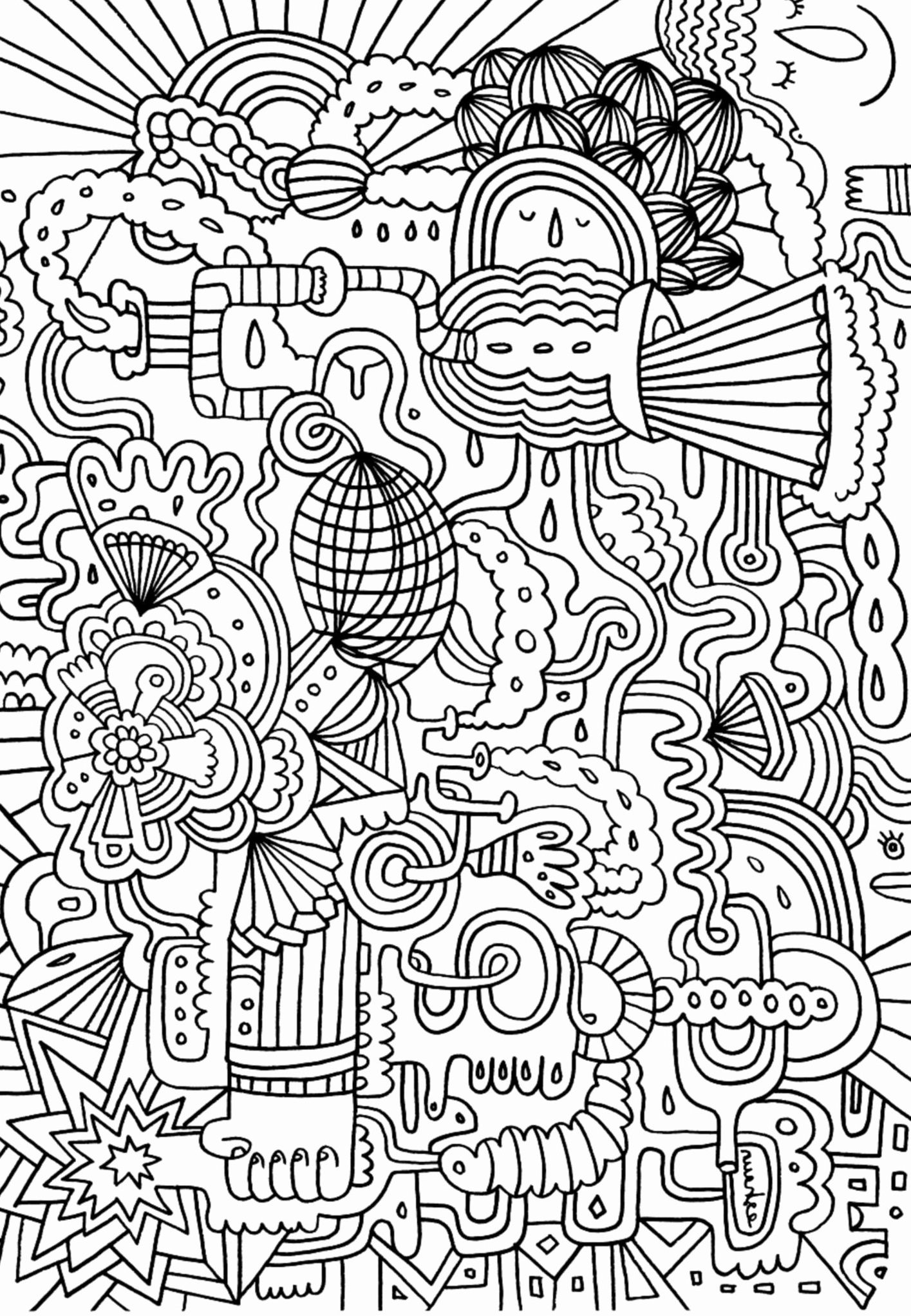 Complex Coloring Pages for Teens