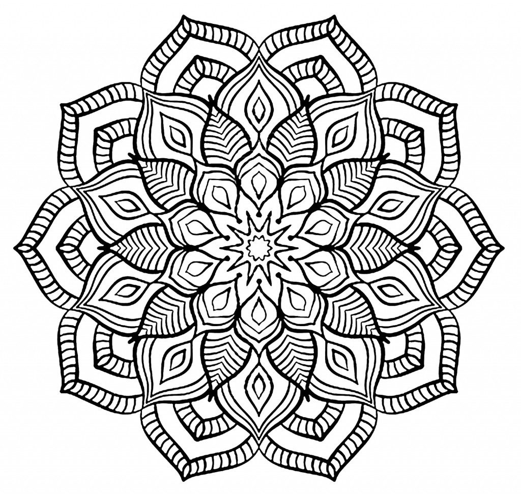 Complex Mandala Coloring Pages for Adults and Teens