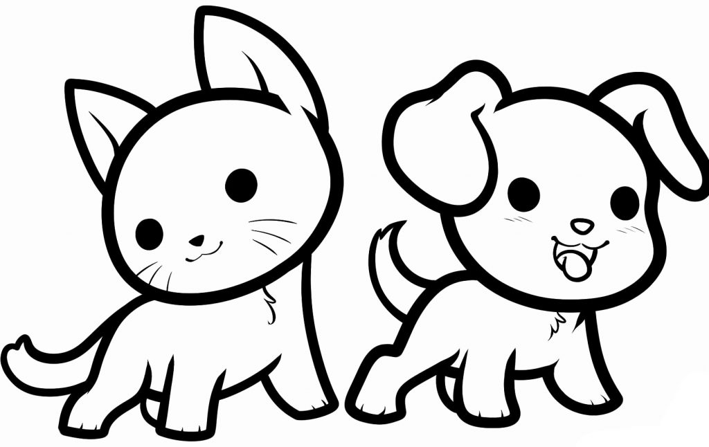 cats and dogs coloring pages - photo#42