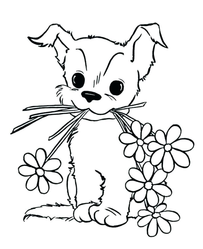 Cute Pet Puppy Coloring Page