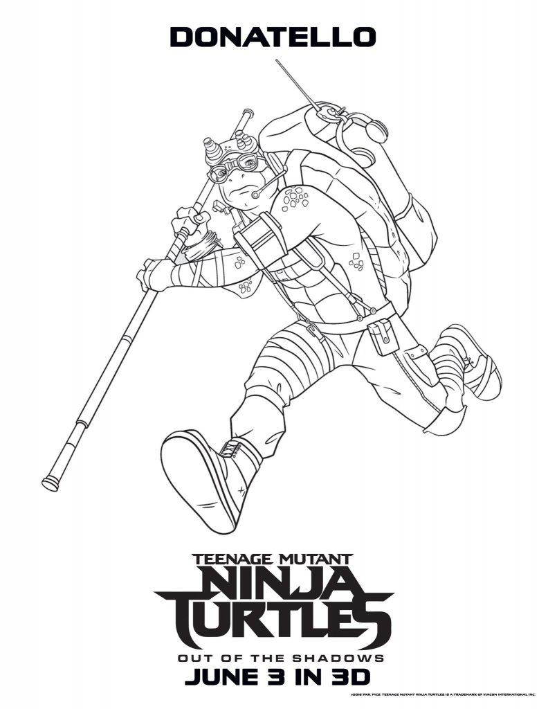 Donatello - Teenage Mutant Ninja Turtles Coloring Pages