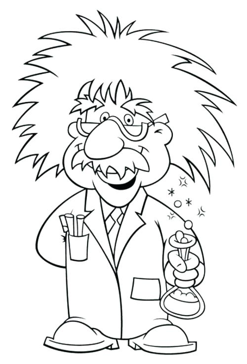 Einstein - Science Coloring Pages