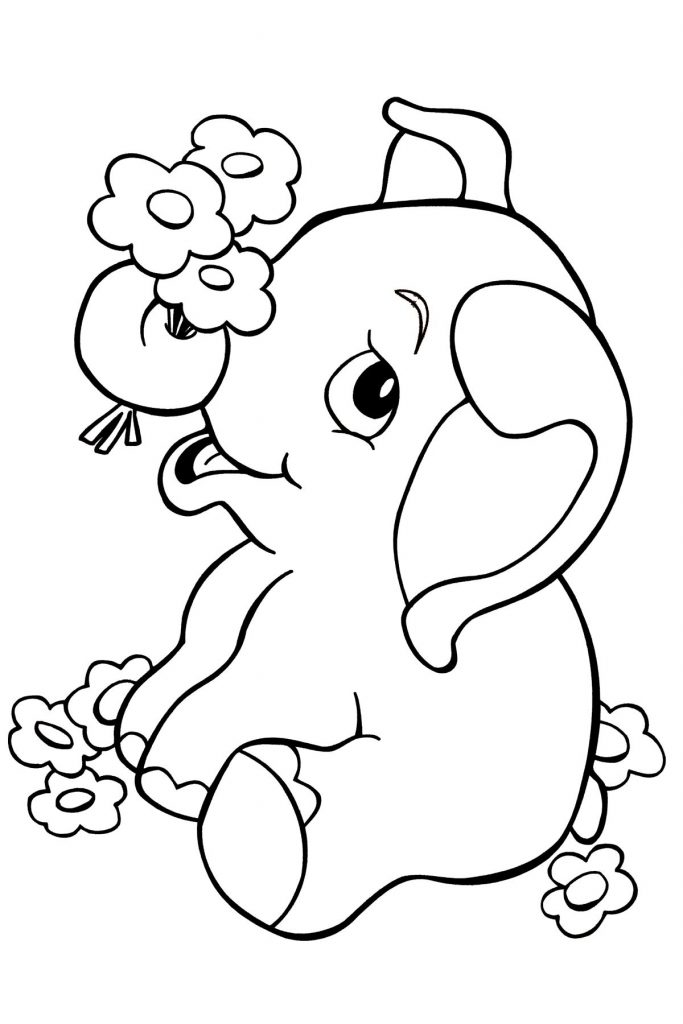 Elephant - Jungle Coloring Pages