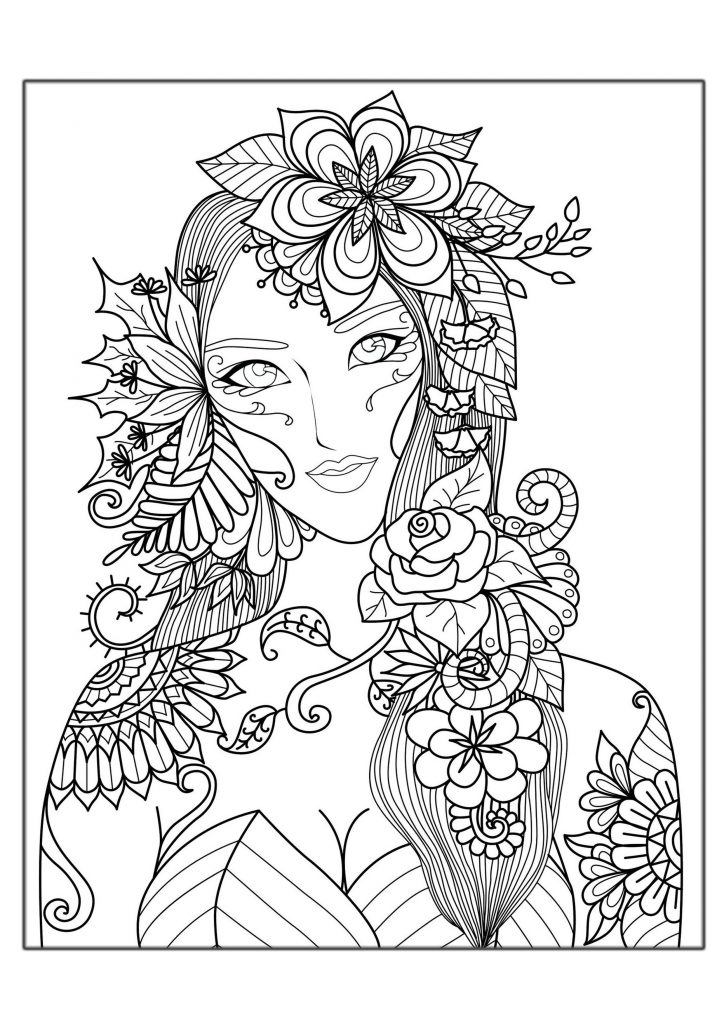 Fall Fantasy Coloring Pages for Adults