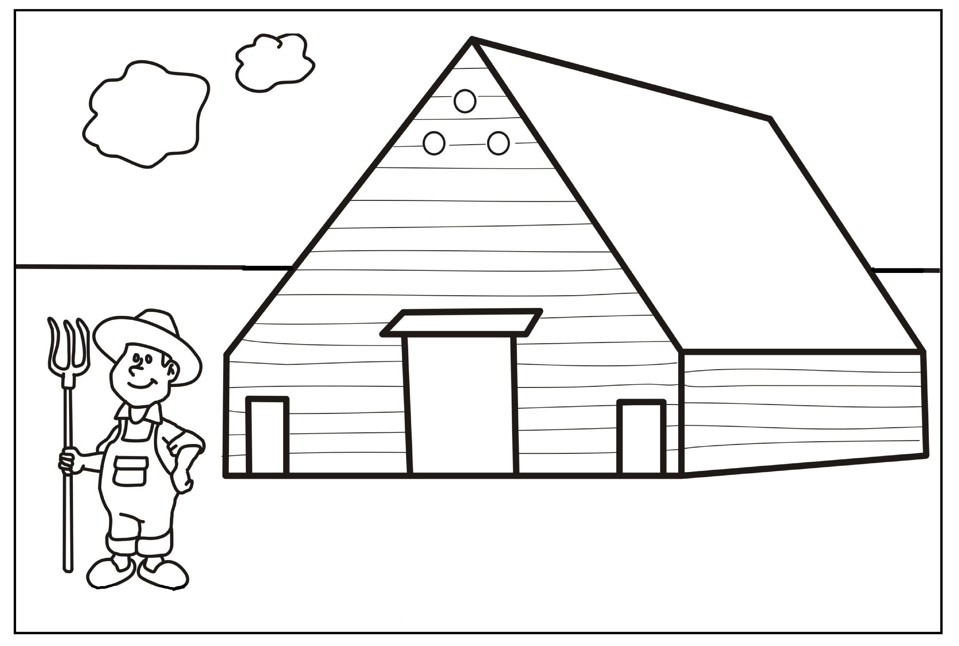 farm coloring pages kids-#11