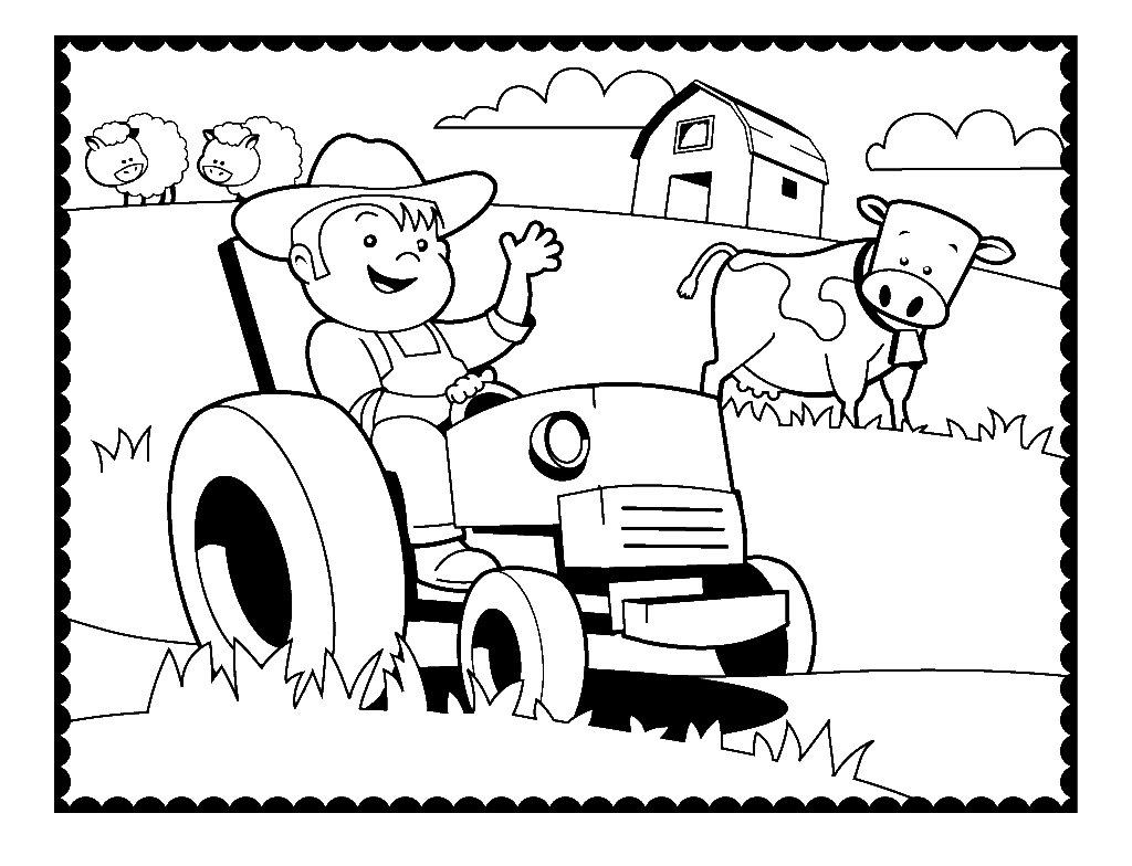 Farm Coloring Pages Best Coloring