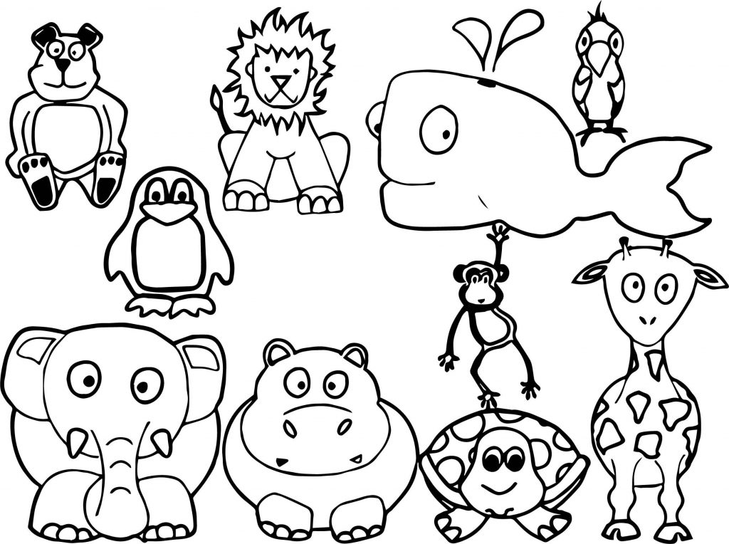 This is a photo of Bright Printable Animal Coloring Pages