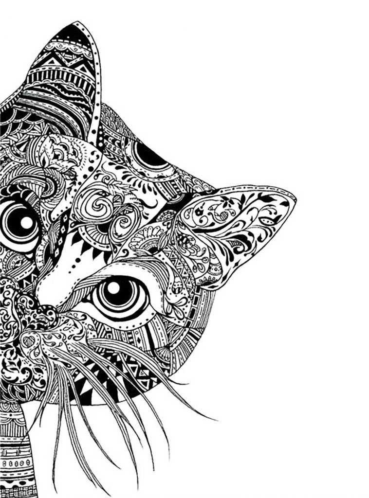 Free Online Coloring Pages for Adults - Complex